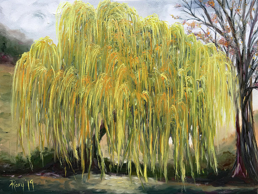 Weeping Willow Painting - The Willow Tree by Roxy Rich