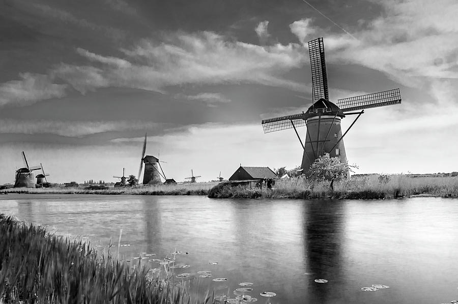 The windmills of Kinderdijk 2 by Wolfgang Stocker