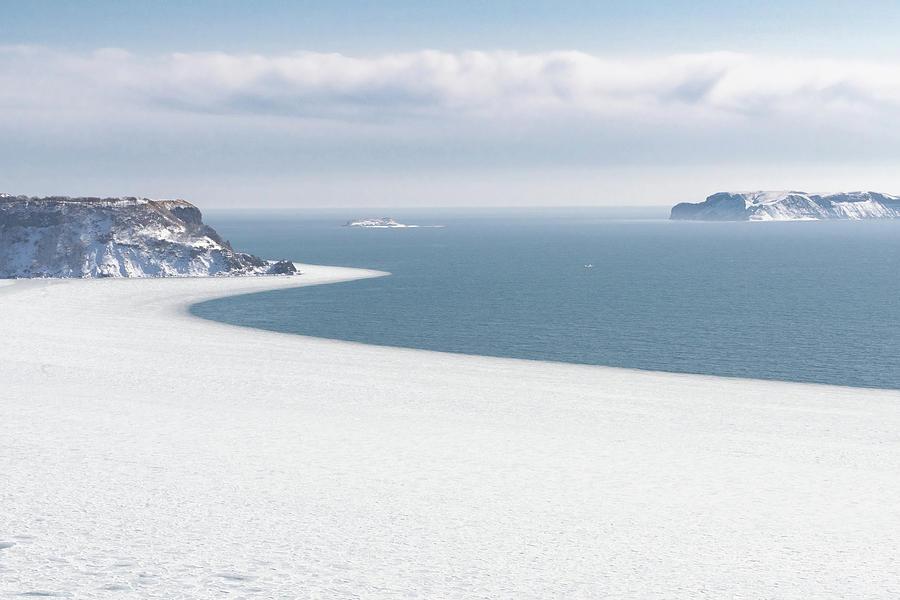The Winter Shore of Frozen Ocean - Hokkaido, Japan by Ellie Teramoto