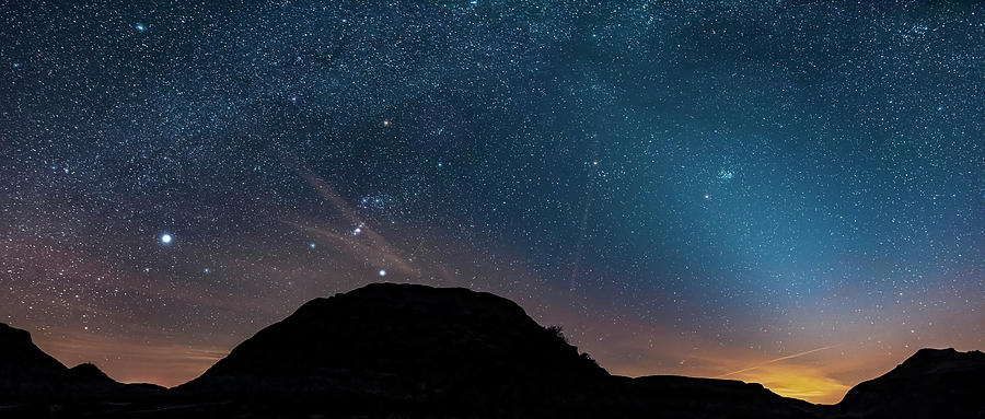 The Winter Stars And Zodiacal Light by Alan Dyer