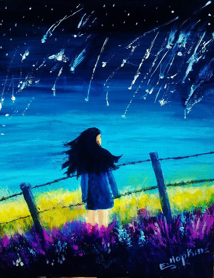 Stars Painting - The Wishing Star by Eileen Hopkins