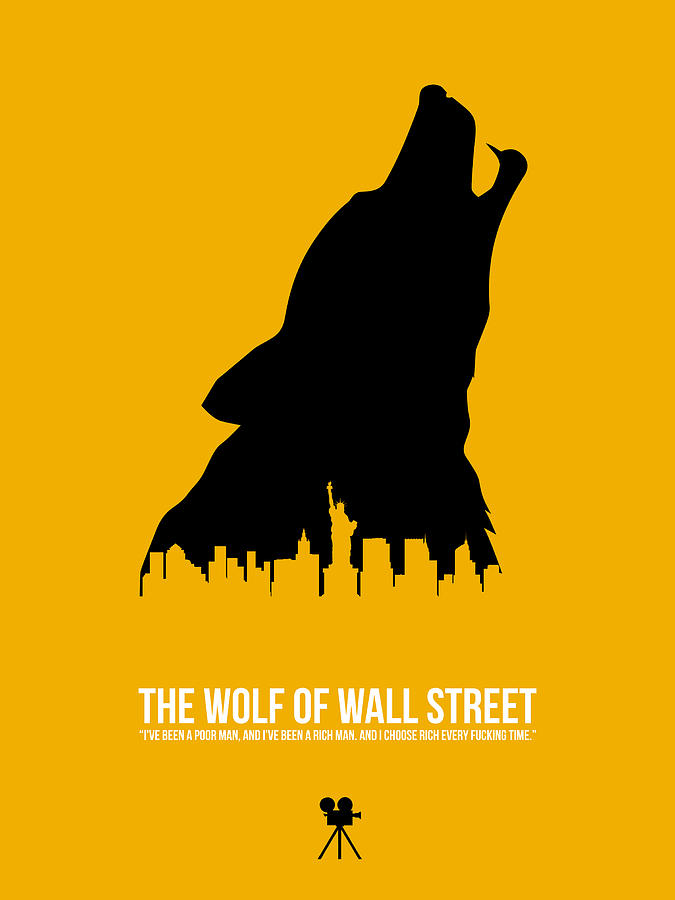 The Wolf Of Wall Street Digital Art - The Wolf Of Wall Street by Naxart Studio