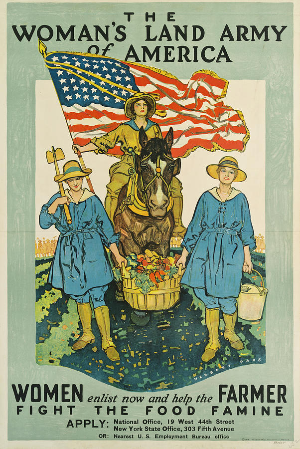 People Photograph - The Woman's Land Army Of America Poster by The New York Historical Society
