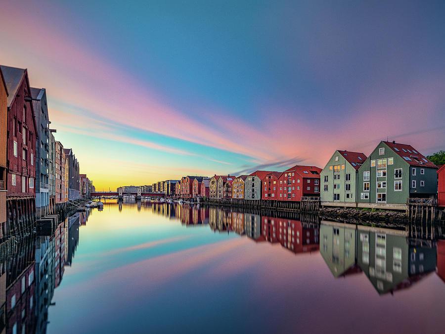 The Wonderful Summer Midnights in Trondheim Norway  by Aziz Nasuti
