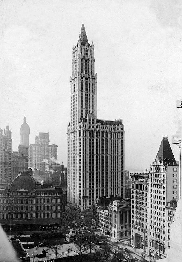 The Woolworth Building On Broadway Photograph by Fpg