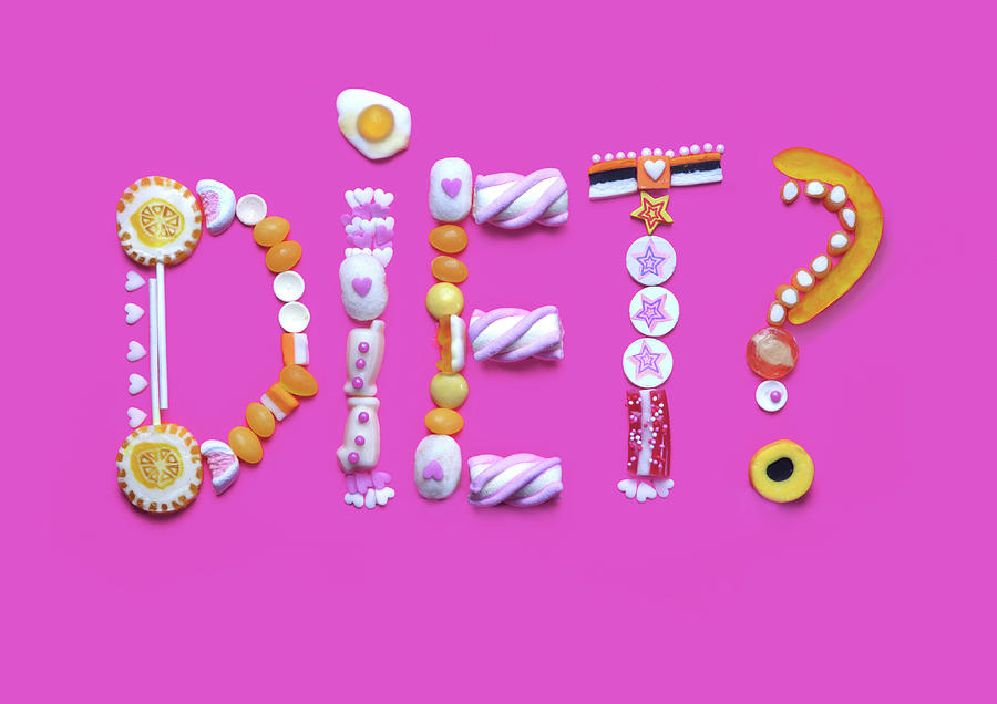 The Word Diet Written From Gummy Candy Photograph by Paper Boat Creative