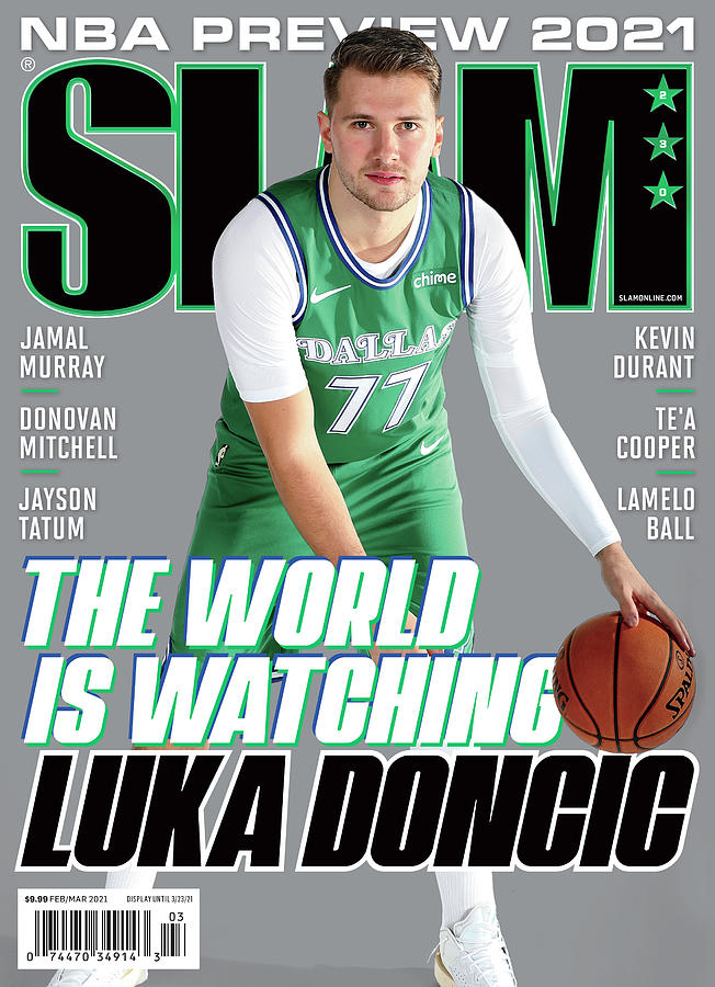 The World is Watching Luka Doncic SLAM Cover Photograph by Getty Images