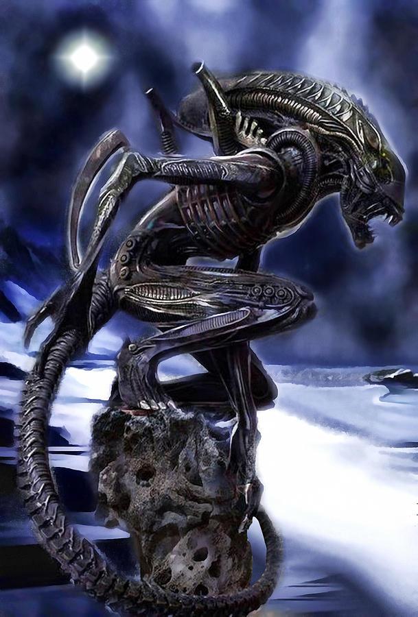 The Xenomorph Guardian by Mario Carini
