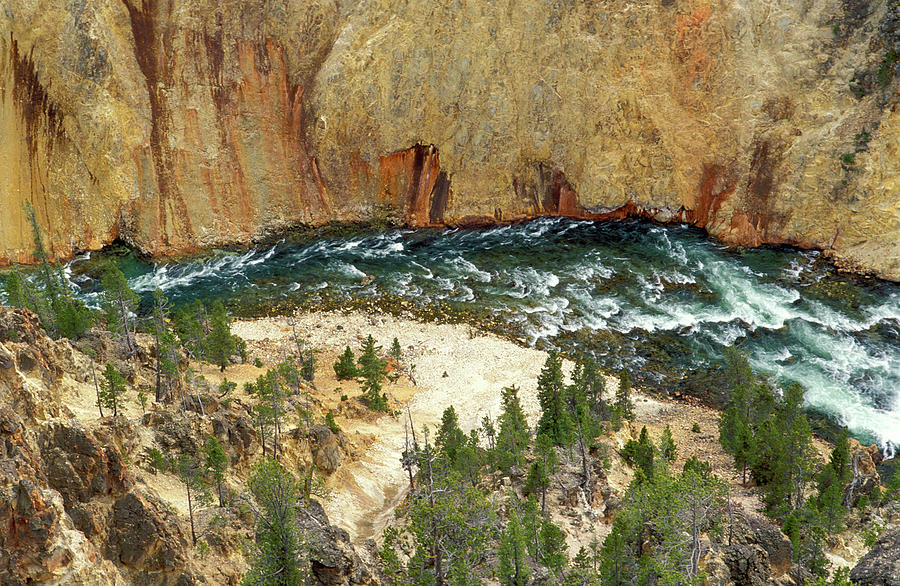 Brown Photograph - The Yellowstone River From Lookout by Russ Bishop