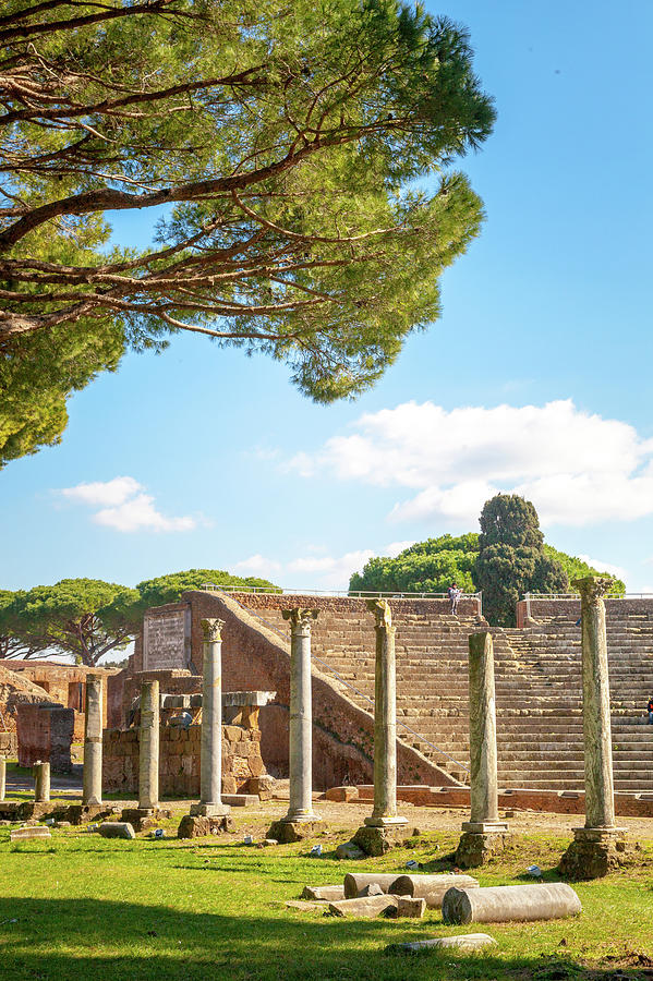 Theater at Ostia Antica by W Chris Fooshee