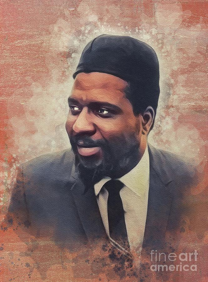 Thelonious Painting - Thelonious Monk, Music Legend by John Springfield