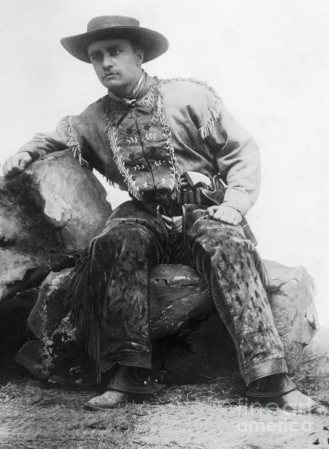 Theodore Roosevelt In Cowpoke Outfit Photograph by Bettmann
