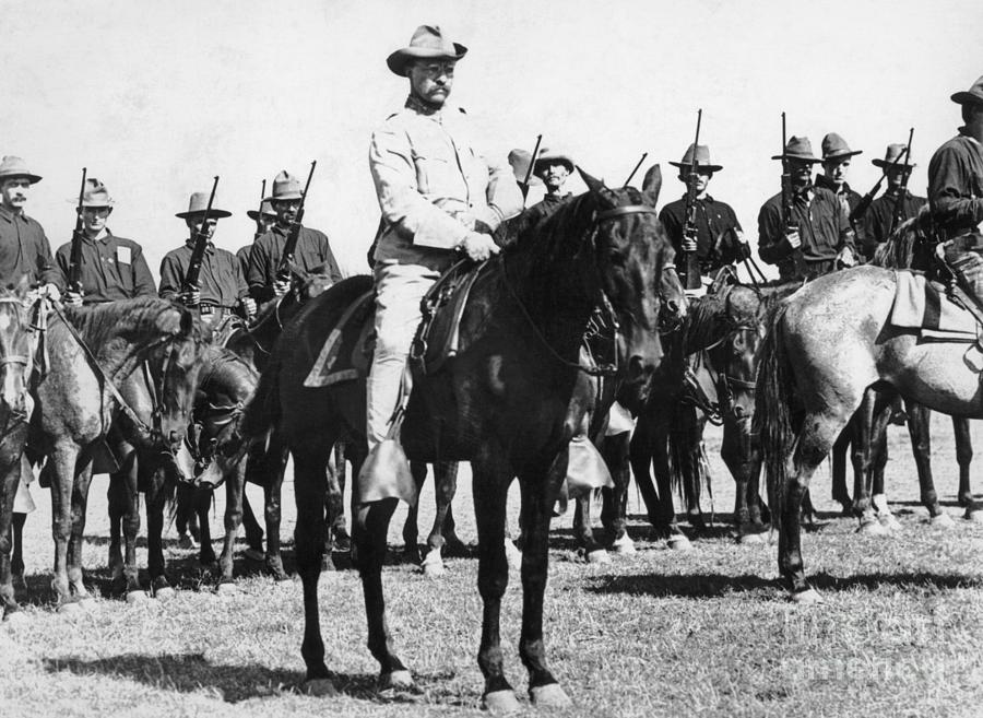 Theoodore Roosevelt And Rough Riders Photograph by Bettmann