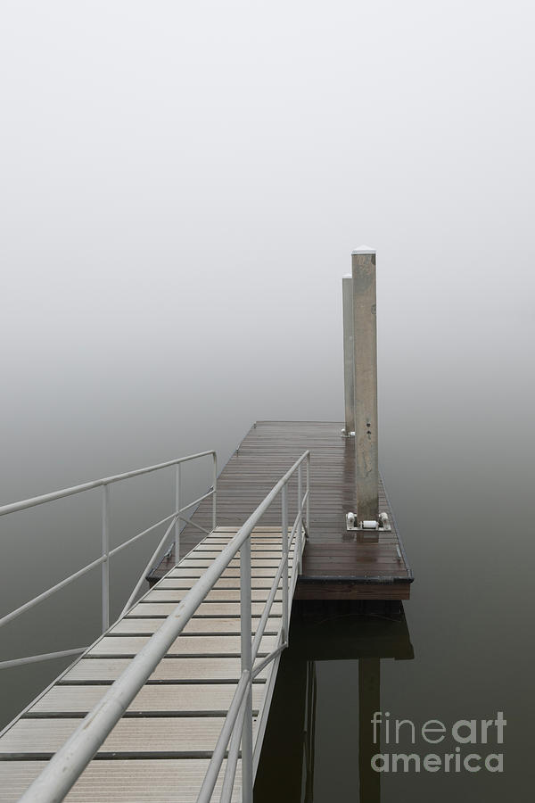 Thick Fog And Still Waters Over The Wando River Photograph