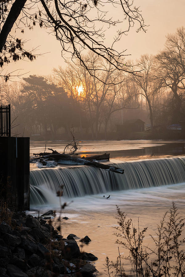 Thiensville Dam in December by James Meyer
