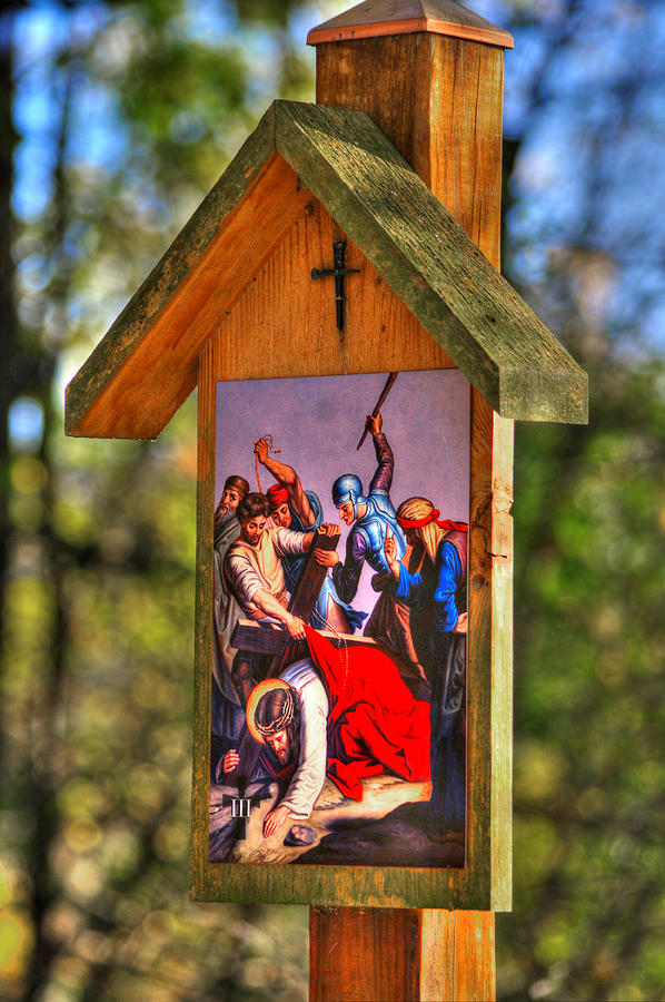 Third Station of the Cross - Jesus Falls the First Time by Michael Mazaika