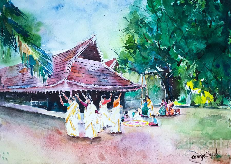 Thiruvathira dance Onam by George Jacob