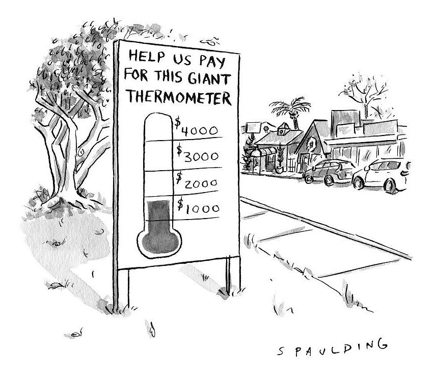 This Giant Thermometer Drawing by Trevor Spaulding