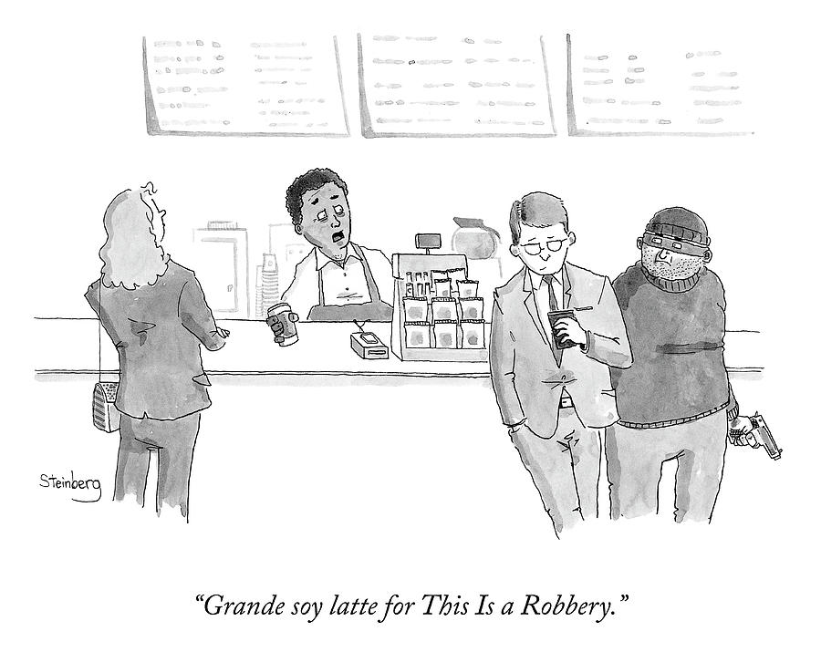 This Is A Robbery Drawing by Avi Steinberg