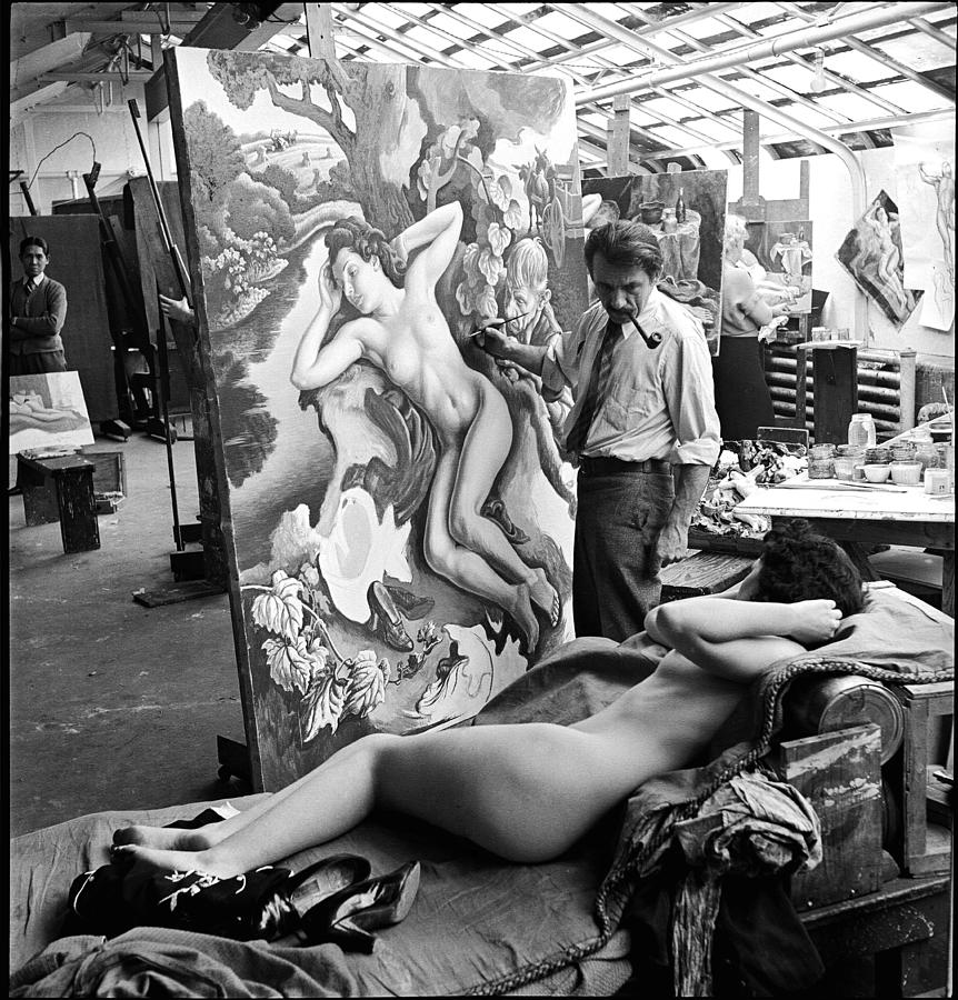 Thomas Hart Benton In The Studio Photograph by Alfred Eisenstaedt