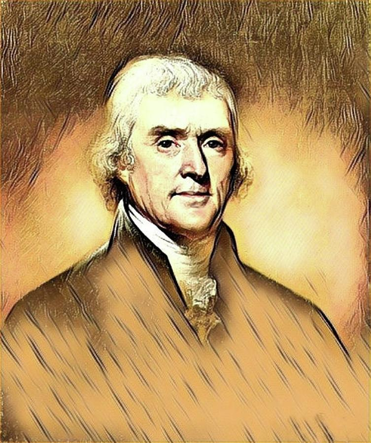 Thomas Jefferson Mixed Media
