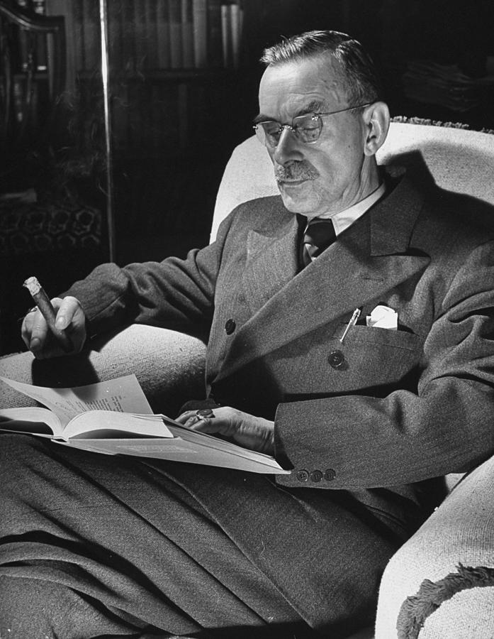 Thomas Mann Photograph by Carl Mydans