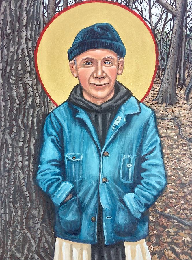 Thomas Merton Painting by Kelly Latimore