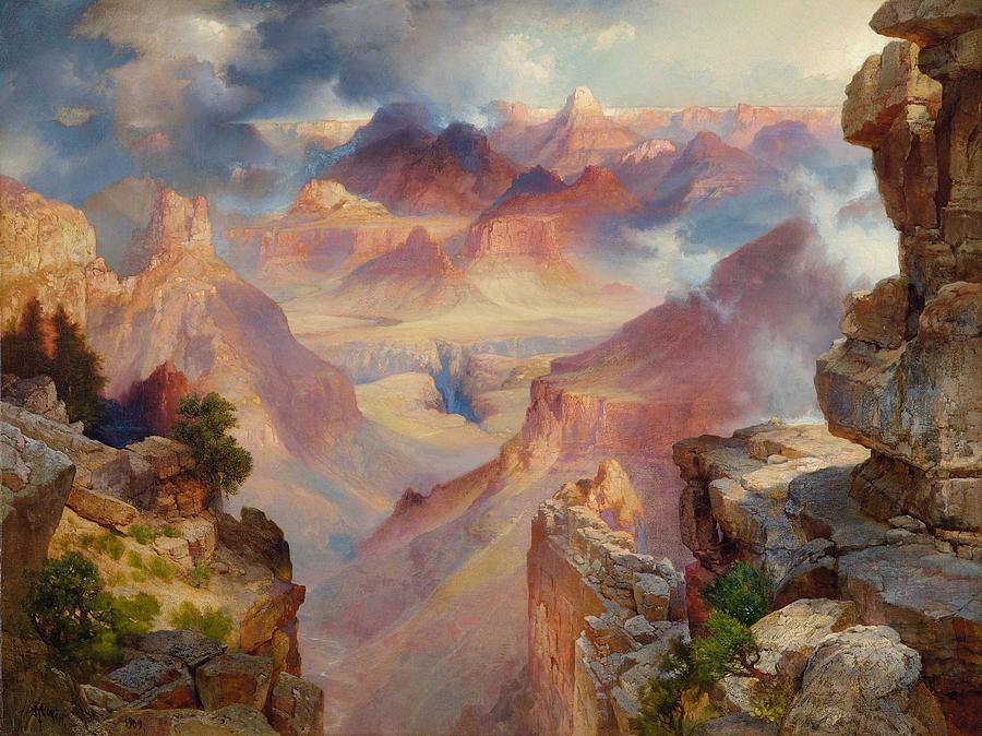Nature Painting - Thomas Moran American, Born England, 1837-1926, Grand Canyon by Thomas Moran