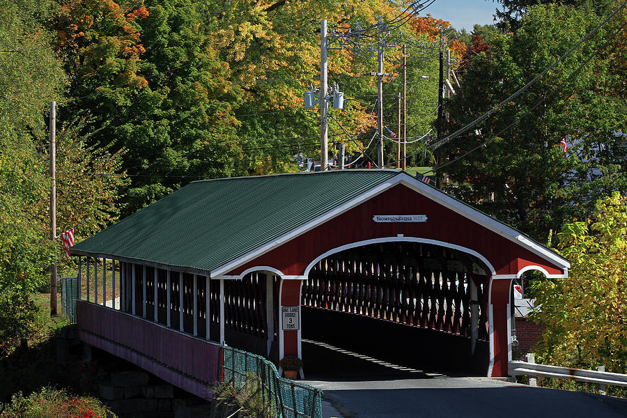 Thomson Covered Bridge by Juergen Roth