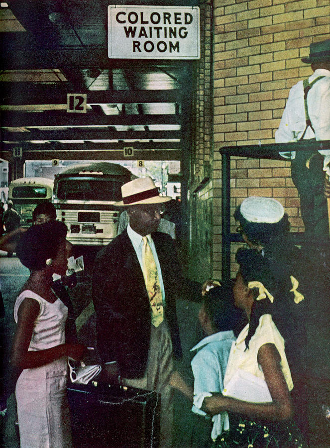 Thornton & Family At Bus Station Photograph by Gordon Parks