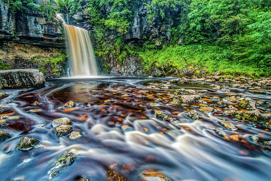 Yorkshire Dales Photograph - Thornton Force Waterfall by David Ross