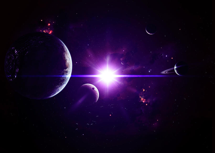 Though Jovian Planets May Be Composed Digital Art by Stocktrek Images/kevin Lafin