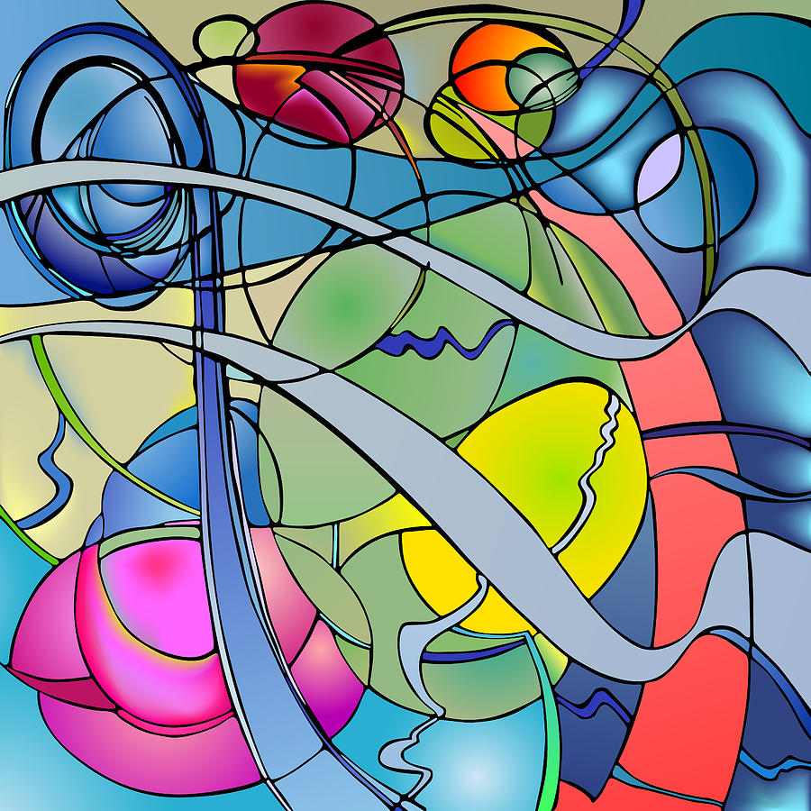 Nonobjective Digital Art - Thought Patterns #2 by James Fryer