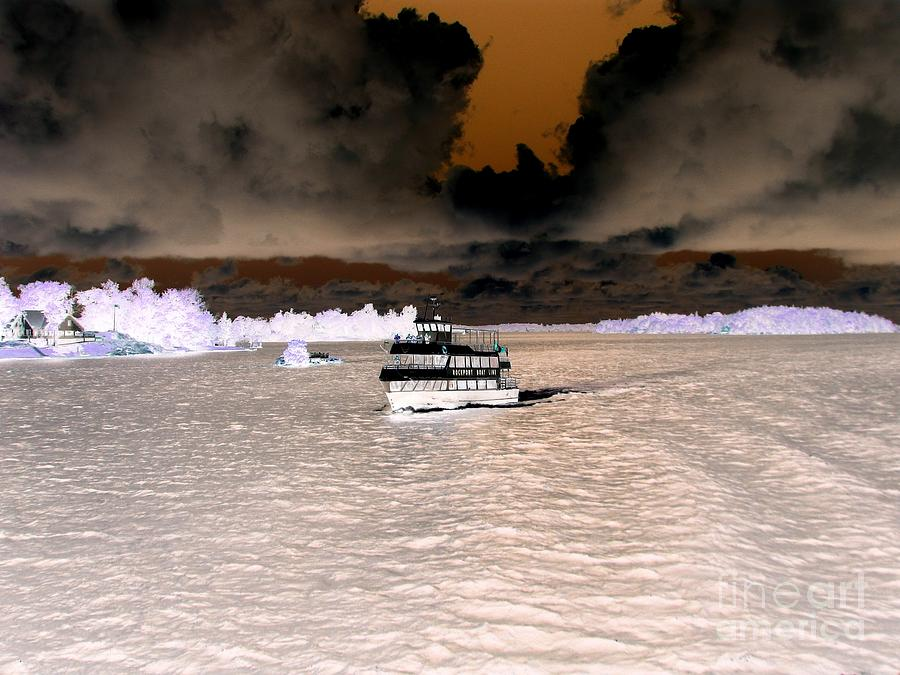 Thousand Islands Saint Lawrence Seaway Inverted Infrared Effect by Rose Santuci-Sofranko
