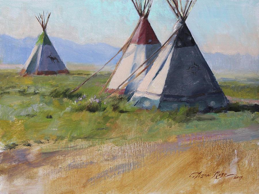 Plein Air Painting - Three Amigos by Anna Rose Bain