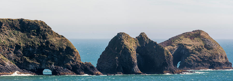 Three Arch Rocks Panorama by Robert Potts