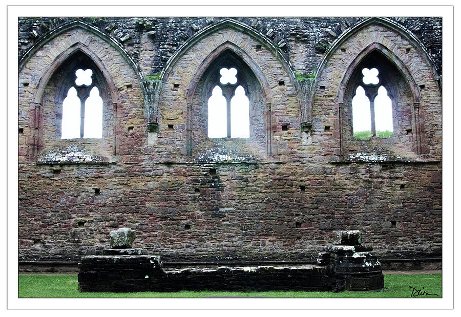 Three Arches at Tintern Abbey by Peggy Dietz