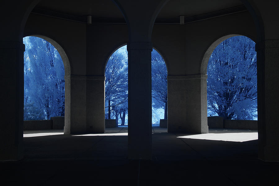 Three Arches in Infrared by Lynda Fowler