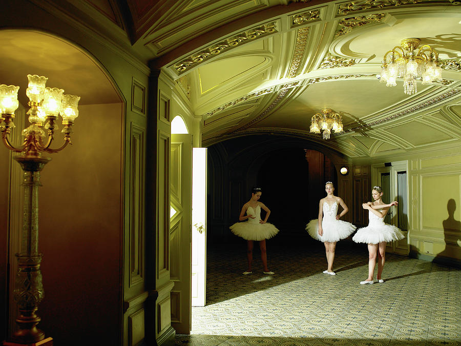 Three Ballet Dancers 13-15  Waiting For Photograph by Hans Neleman