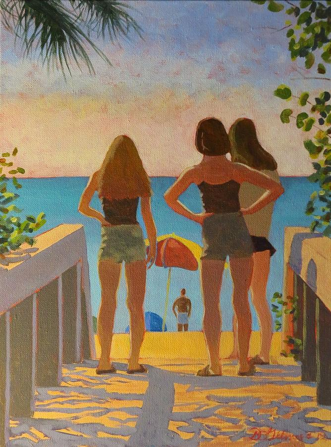 Three Beach Girls by David Gilmore