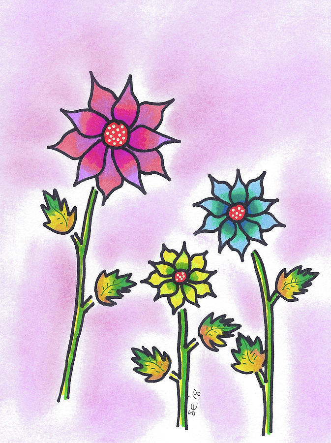 Three Bright Flowers by Susan Campbell