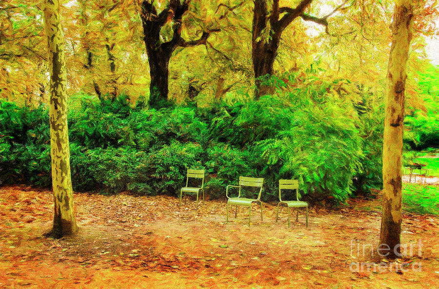Three Chairs of Luxenburg Gardens by Craig J Satterlee