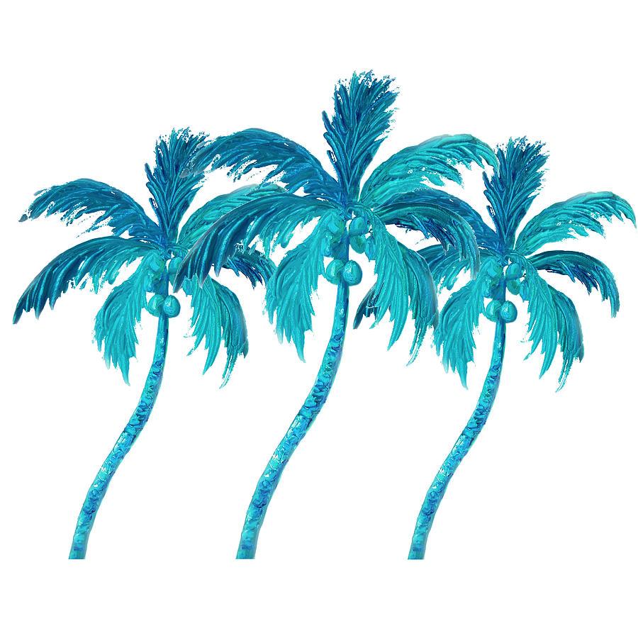 Three Coconut Palm Trees by Jan Matson