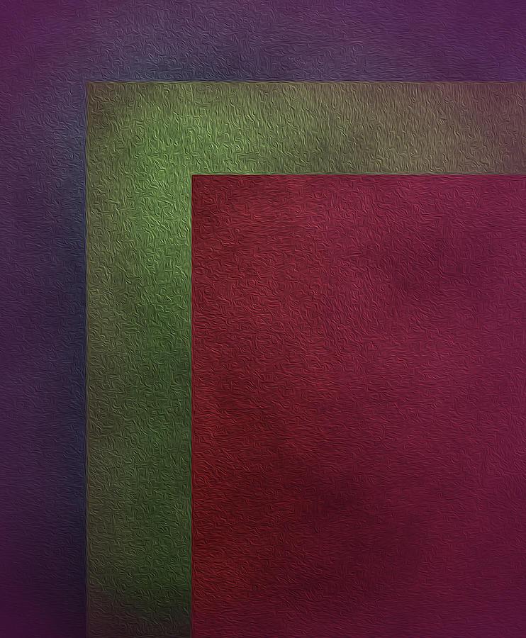 Three Color Abstract Harmony Art by Johanna Hurmerinta