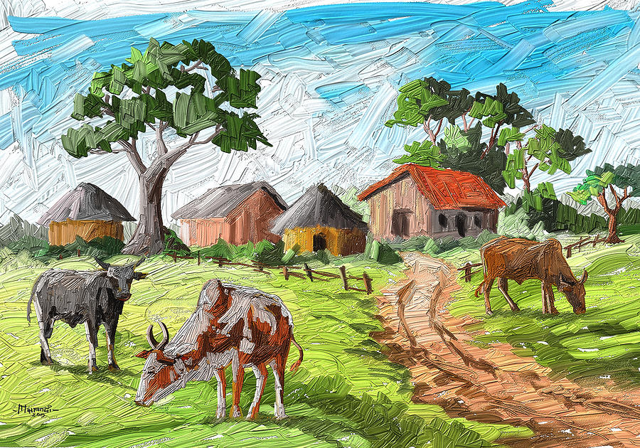 Three Cows Painting