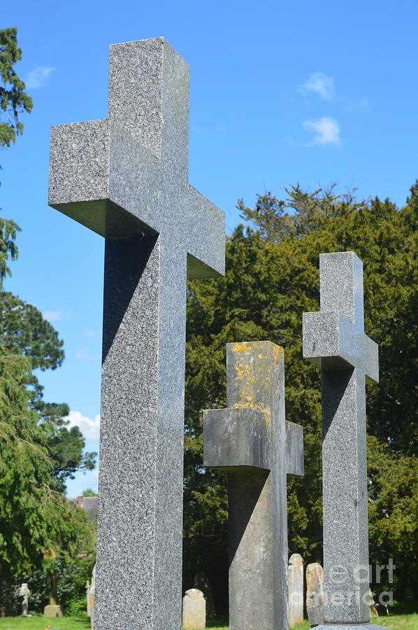 Three Crosses Photograph - Three Crosses by Andy Thompson