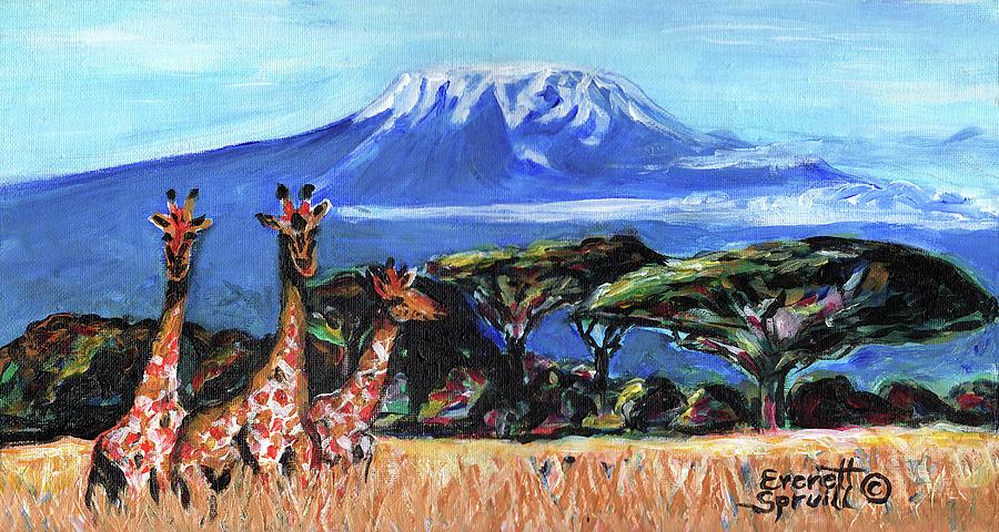Three Giraffes by Everett Spruill