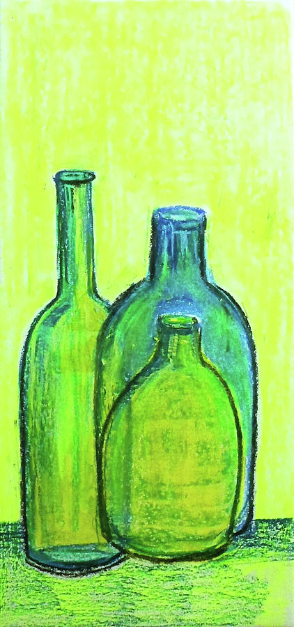 Three green bottles by Asha Sudhaker Shenoy