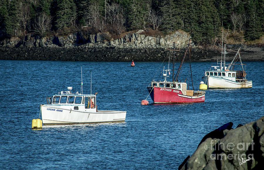 Three Lobster Boats by Alana Ranney