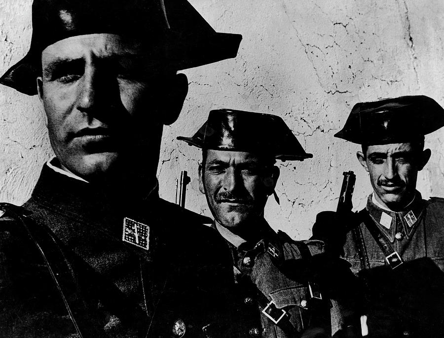 Three Members Of Dictator Francos Feare Photograph by W. Eugene Smith